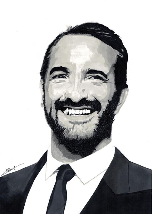 Jean Dujardin by Lwize